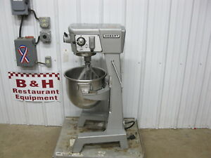 Hobart 30 Qt Heavy Duty Bakery Mixer D 300 W Flat Beater Stainless Steel Bowl