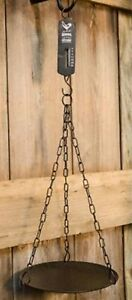 Primitive Reproduction Grocery Hanging Scale With Rooster General Store Farm