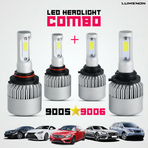 Lumenon 9005 9006 Combo Led Headlight Kit Low High Beam 6000k 180w 270000lm Hb4