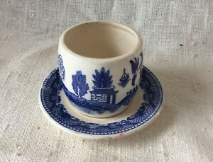 Vintage Hand Painted Japan Blue White Tea Cup And Saucer Ma