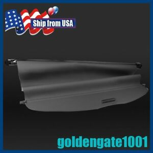 Us Black Retractable Cargo Cover Trunk Shade For Nissan Rogue X Trail 14 17 Gg