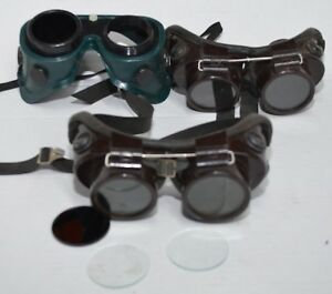 Vintage Willson Welding Goggles Shade Lens Industrial Steampunk Lot