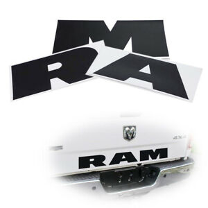 Black Thin Vinyl Lettering Decal Stickers For Dodge Ram 1500 Rear Trunk Tailgate