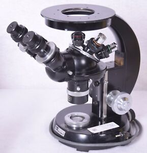 Carl Zeiss Microscope With 4 Objective Lenses