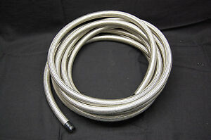 Spectre 39525 Stainless Steel Braid Flex Hose Water Fuel Oil Line 1 2 Id X 25