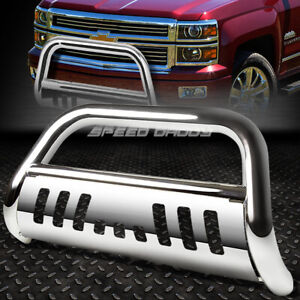 For 99 07 Chevy Silverado sierra 1500 Chrome Bull Bar Push Bumper Grille Guard
