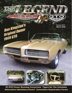 Pontiac Gtoaa The Legend March 2018 Featuring 1969 Gto Convertible And More
