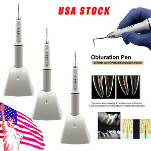 3 dental Cordless Endodontic Endo System Gutta Percha Obturation Pen W Tips Usa