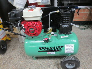 20 Gallon Portable Air Compressor 5 5 Hp By Speedaire Gasoline Powered 4b241