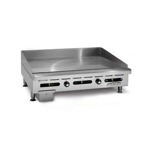 Imperial Range 48 Commercial Gas Griddle Counter Top Thermostatic Control
