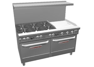 Southbend Ultimate 60 Range W 24 Thermostatic Griddle 2 Conv Oven