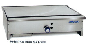 Imperial Range Ity 36 36 Stainless Teppan yaki Gas Griddle W 1 Burner