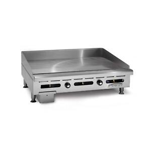 Imperial Range 60 x24 Countertop Gas Griddle 4 Wide Front Grease Trough