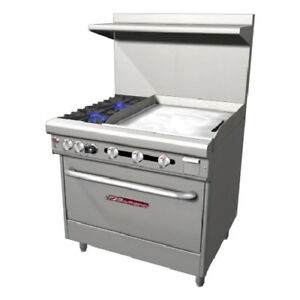 Southbend 36 Ultimate Gas electric Range 2 Burners 24 Griddle 1 Rack