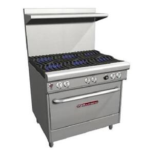 Southbend H4362d 36 Ultimate Range Gas electric 6 Burners Wavy Grates