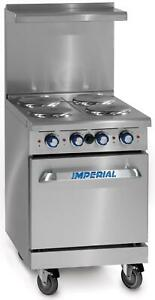 Imperial Range 24 restaurant Range 4 Round Electric Burners Standard Oven