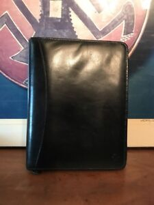 Franklin Quest Leather Classic Binder Planner Organizer 7 Ring 1 5 Black Usa