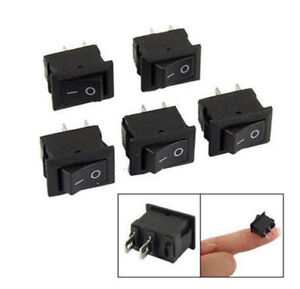 20pc Spst On off Black Square I o Rocker Switch Mini Small Automotive car boat