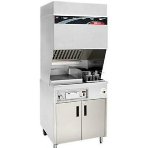 Wells Wv fg Ventless Range W Griddle Deep Fryer Cabinet Base