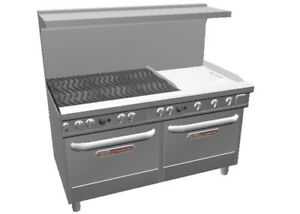 Southbend Ultimate 60 Range W 24 Griddle 6 Burners 2 Conv Ovens