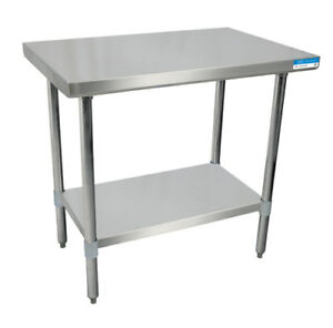 Bk Resources 24 x 24 18g Work Table Stainless Steel Top W turndown Edges