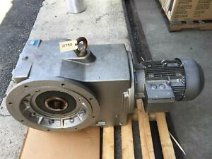 Nord Gear Corp Large Helical Gear Reducer 82 88 1 21rpm Sk 9082af 160 M 4 230