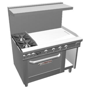 Southbend 4483dc 3g 48 Ultimate Range W Star Burners 36 Man Griddle Oven