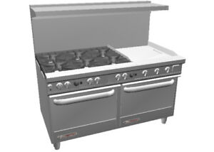 Southbend S60dd 2g 60in Restaurant Range 6 Burner 24in Griddle 2 Ovens