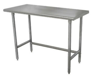 Advance Tabco Tag 248 96 wx24 d 16 Gauge 430 Series Stainless Steel Work Table