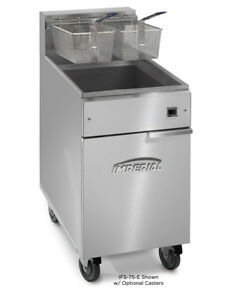 Imperial Range Ifs 75 e 75lb Electric Deep Fat Fryer Floor Model With 2 Baskets