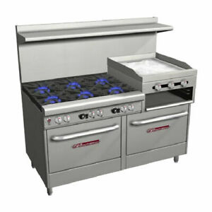 Southbend 4601ad 2rr Ultimate 60 Range 6 Burners 1 Raised Griddle 2 Ovens