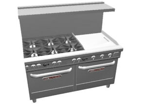 Southbend Ultimate 60 Star Burner Range W 24 Therm Griddle 2 Conv