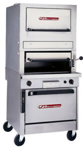 Southbend P32d 3240 32 Gas Upright Radiant Broiler W Standard Oven Base