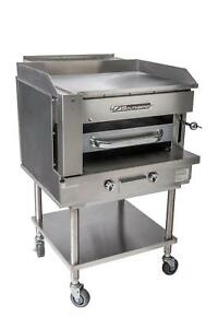 Southbend Ssb 45 45 Gas Steakhouse Broiler Griddle Counter Top W Stand