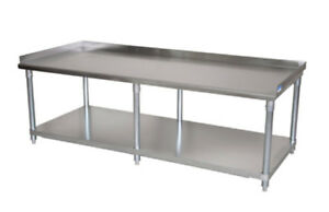 Bk Resources Economy 72 x30 Stainless Kitchen Equipment Stand 6 Legs