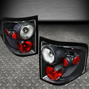 For 04 08 Ford F150 Flareside Carbon Fiber Style Housing Tail Light Brake Lamps