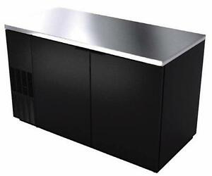 Bk Resources Bb 2 59 59 Back Bar Cooler With Black Vinyl Exterior