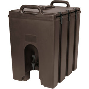Cambro 1000lcd131 Camtainer 11 3 4 Gallon Beverage Carrier Dark Brown