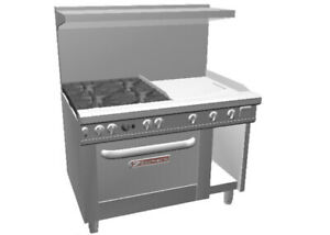 Southbend 4481dc 2t 48 Ultimate Range W 24 Therm Griddle Standard Oven