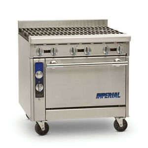 Imperial Range Ihr 6 36 Diamond Series Heavy Duty Restaurant Range W 6 Burners