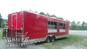New 2019 8 5x28 8 5 X 28 V nosed Enclosed Concession Food Vending Bbq Trailer