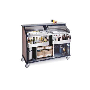 Lakeside 76889 62 1 2 wx33 dx49 3 4 h Portable Bar W 1 70lb Ice Bins