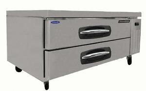 Nor lake Nlcb53 53in Two Drawer Refrigerated Chef Base Equipment Stand