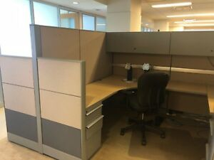 Used Office Cubicles Knoll Dividends 6 5 X 8 Cubicles