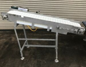 12 X 68 Long Ss Incline Food Belt Conveyor