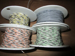 Lot Of 24 Awg 19 36 Str 16878 4 bee Silver Plated Wire 4 Colors 1429ft Total
