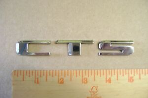 Cts Chrome Plastic Letter Emblem Cadillac Caddy And Other Vehicles 11 16 Tall