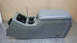 Ford Expedition Center Front Console Storage Assy Arm Rest Lid Grey Gray 03 06