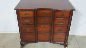 Kindel Mahogany Bachelors Chest Dresser Block Front Oxford