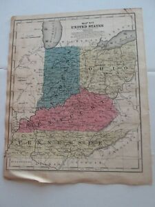 1 1847 Map Of Map No 7 United States In Oh Ky Tn 1850 Smith S Atlas